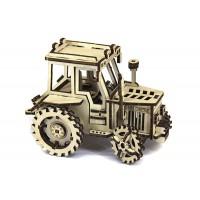 3D механический пазл трактор