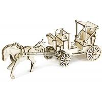 3D пазл карета