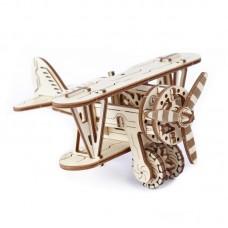 3D механический пазл Биплан