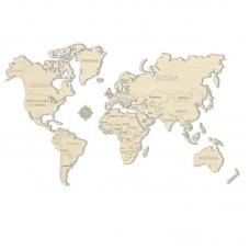 3D пазл Карта мира М (средний размер)