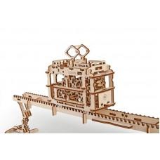 3D механический пазл Трамвай с рельсами