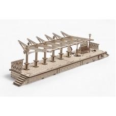 3D механический пазл Перрон к локомотиву