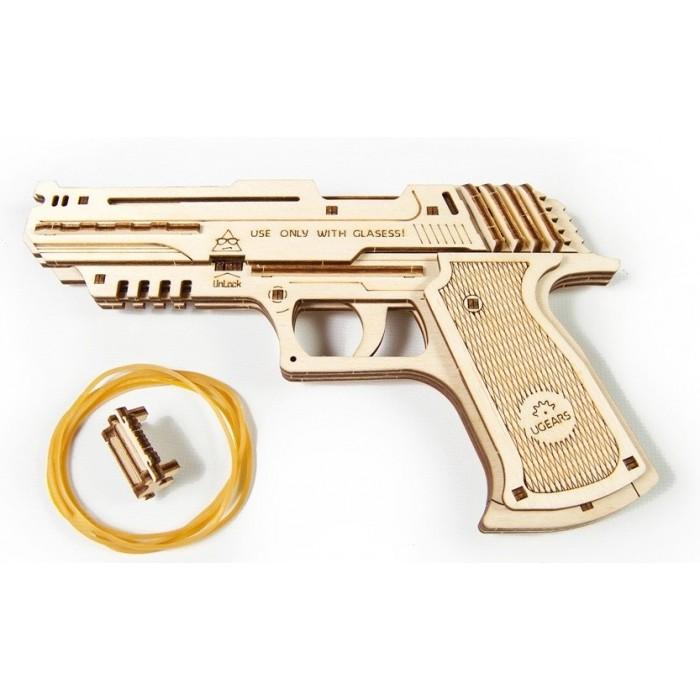 3D механический пазл Пистолет Вольф-01