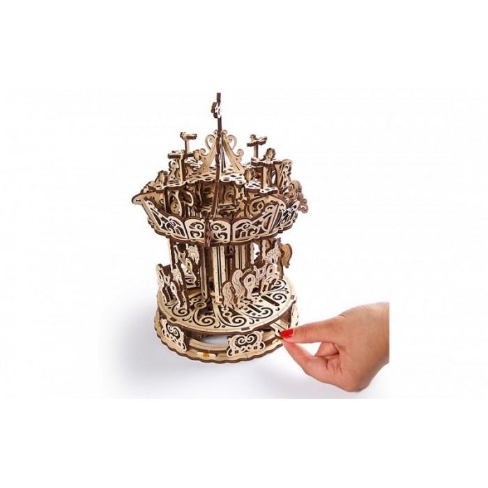 3D механический пазл Карусель
