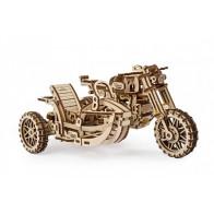 3D механічний пазл Мотоцикл Scrambler UGR-10 з коляскою