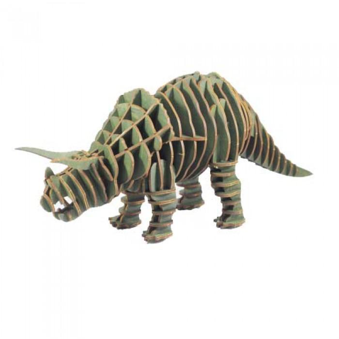 3D пазл Тріцератопс