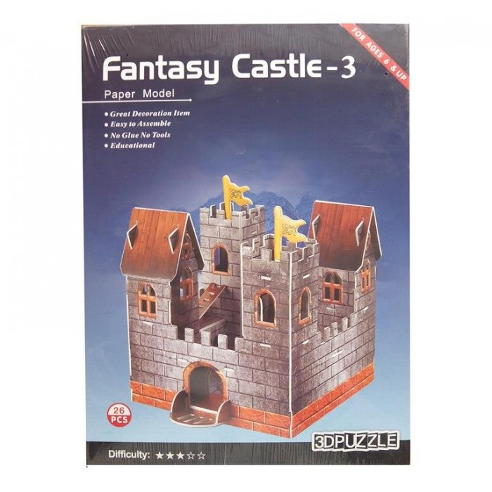 3D пазл паперовий Fantasy Castle - 3