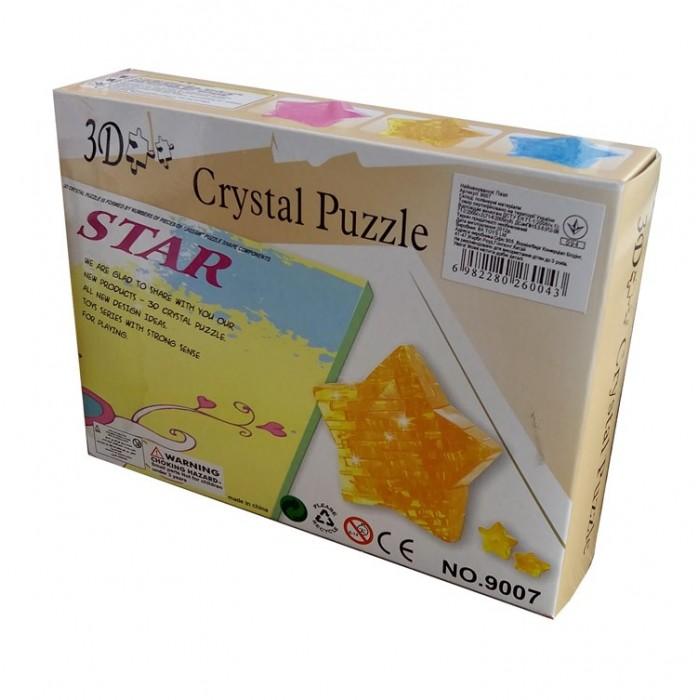"3D кристаллический пазл и сувенир ""Звезда"" желтая"