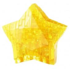 """3D кристалічний пазл і сувенір """"Зірка"""" жовта"""