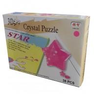 """3D кристалічний пазл і сувенір """"Зірка"""" рожева"""