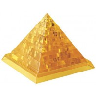 """3D пазл Crystal Puzzle і сувенір """"Піраміда"""" жовта з підсвічуванням"""