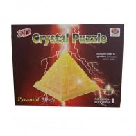 "3D пазл Crystal Puzzle и сувенир ""Пирамида"" желтая с подсветкой"