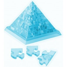 """3D пазл Crystal Puzzle и сувенир """"Пирамида"""" синяя с подсветкой"""