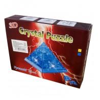 """3D пазл Crystal Puzzle і сувенір """"Піраміда"""" синя з підсвічуванням"""