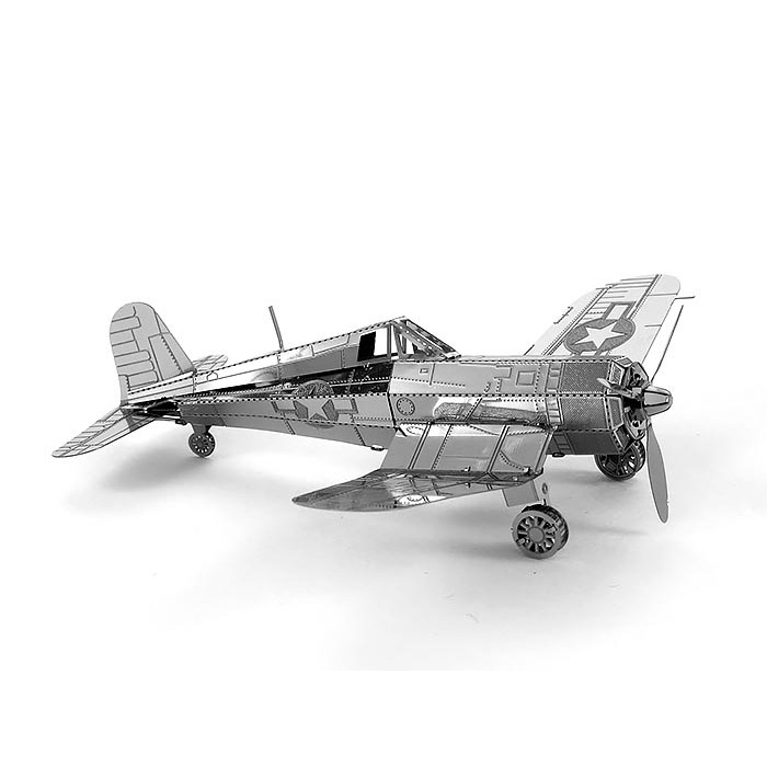 """3D металевий пазл-модель """"винищувач F4U Corsair"""""""