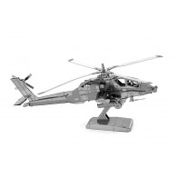 """3D металлический пазл-модель и сувенир """"вертолет Apache"""""""