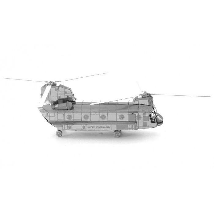 "3D металлический пазл ""военно-транспортный вертолёт CH-47 Chinook"""