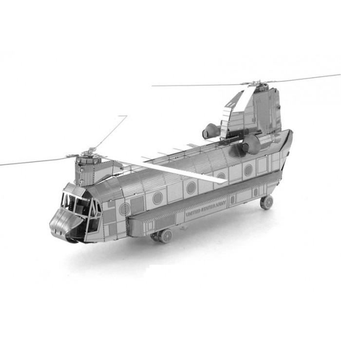 """3D металевий пазл і сувенір """"військово-транспортний вертоліт CH-47 Chinook"""""""