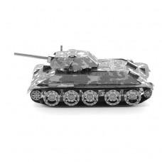 """3D металевий пазл-модель і сувенір """"Танк T-34"""""""