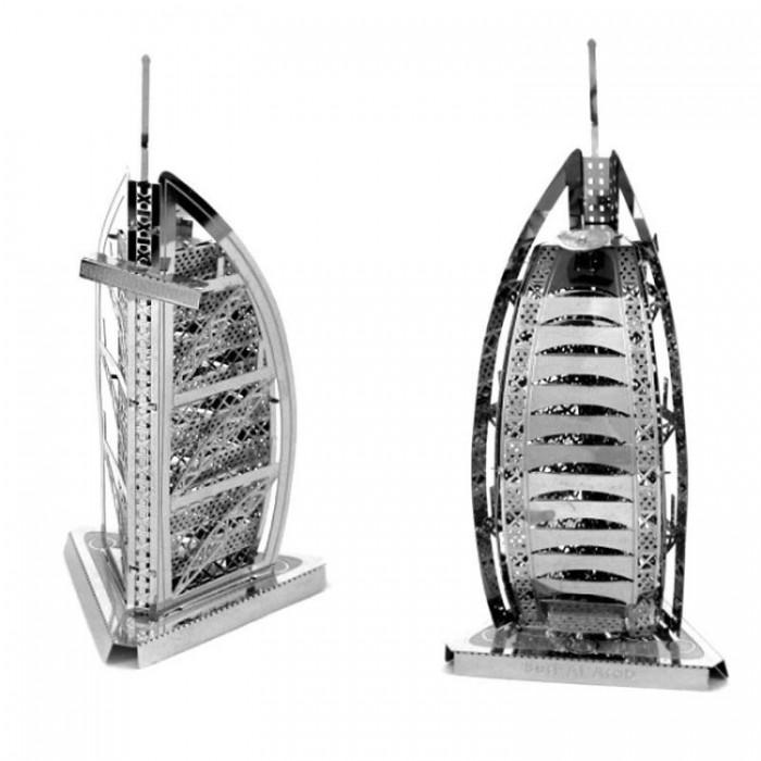 """3D металевий пазл і сувенір """"Башня арабів / Burj Al Arab"""""""