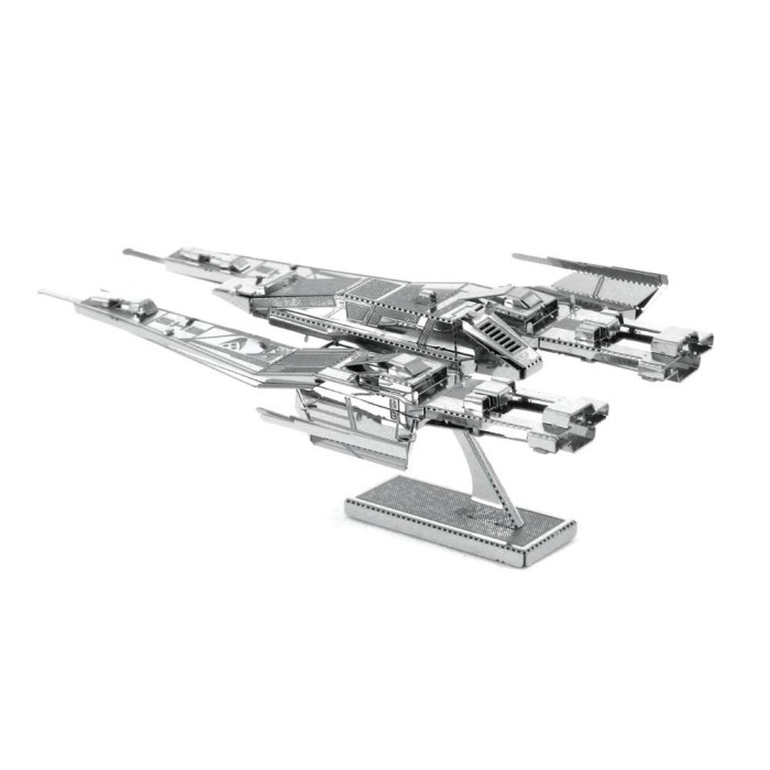 3D металевий пазл і сувенір Mass Effect SX3 Alliance Fighter