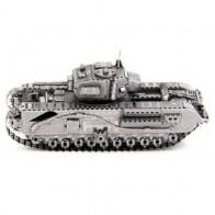 """3D металевий пазл і сувенір """"Танк Черчилль (Churchill Tank)"""""""