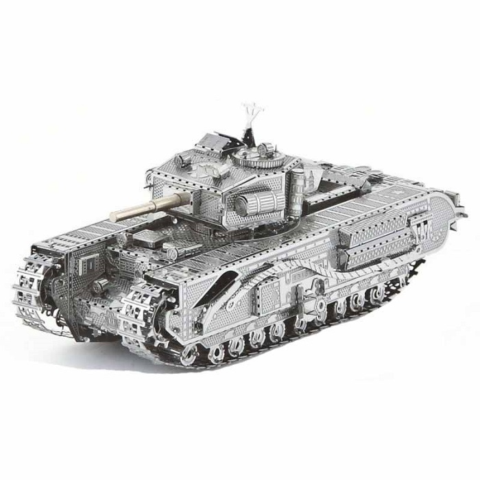 "3D металлический пазл и сувенир ""Танк Черчилль (Churchill Tank)"""