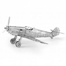 "3D металевий пазл і сувенір ""Літак Messermitt fighter BF-109"""