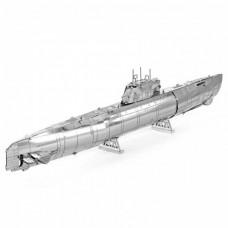 3D металлический пазл и сувенир Подводная лодка German U-boat Type XXI
