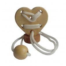 Дерев'яна головоломка Серце на підставці