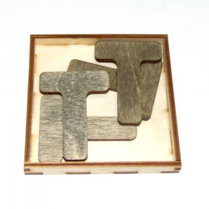 Дерев'яна головоломка Чотири Т
