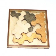 Дерев'яна головоломка Гексагон