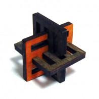 Деревянная головоломка Крест Акиямы