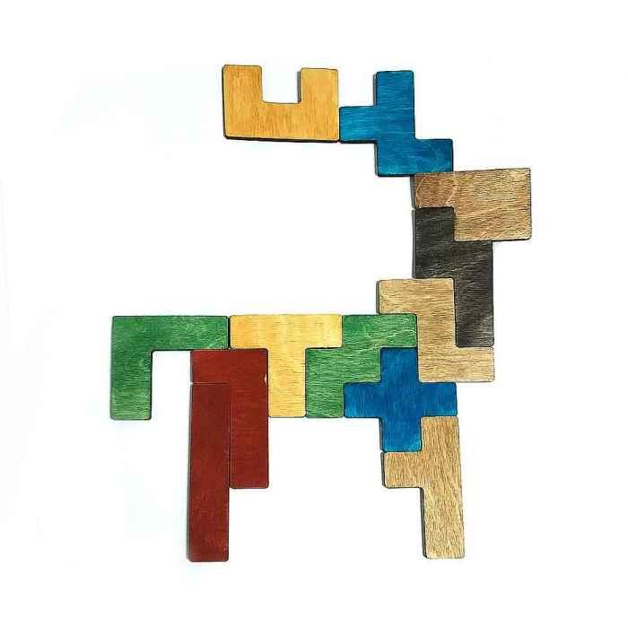 Деревянная головоломка Пентамино