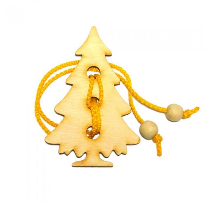 Набор из 5 веревочных Новогодних головоломок