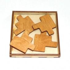 Деревянная головоломка Злой квадрат