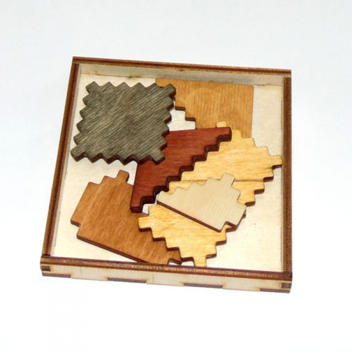 Деревянная головоломка Дубль шесть