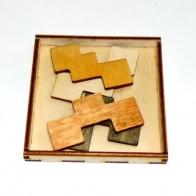 Деревянная головоломка Квартет