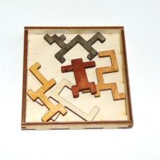 Деревянная головоломка Мальчик в сетях