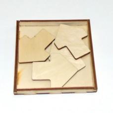 Деревянная головоломка Север и юг