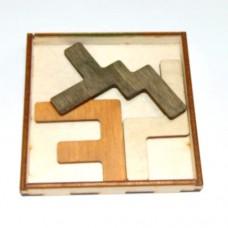 Деревянная головоломка Трио