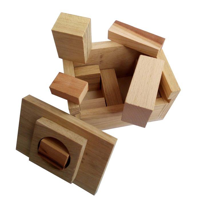 Деревянная головоломка Сундук Круть Верть