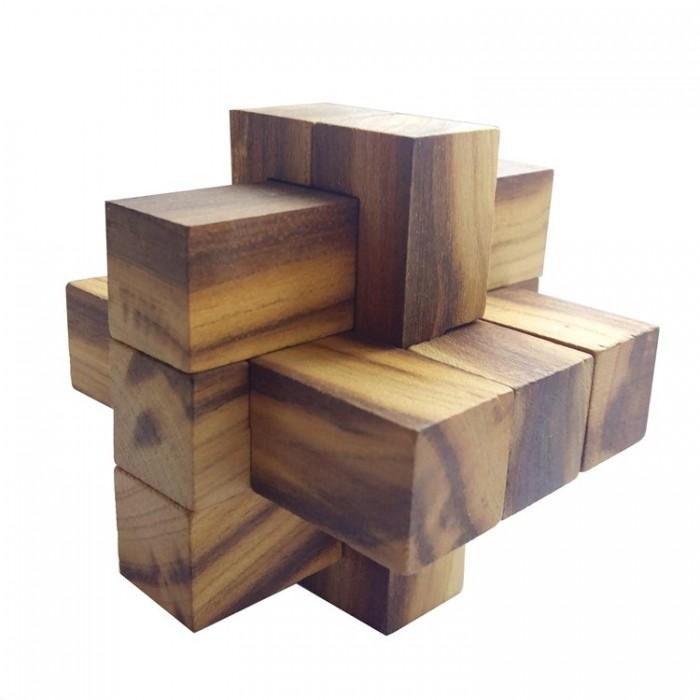 Деревянная головоломка Крест 2+3+3