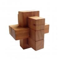 Деревянная головоломка Крест 2+2+3