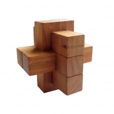 Деревянная головоломка Крест 2+2+3 Круть Верть