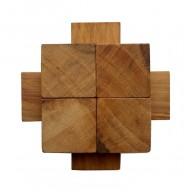 Деревянная головоломка Крест 2+2+4