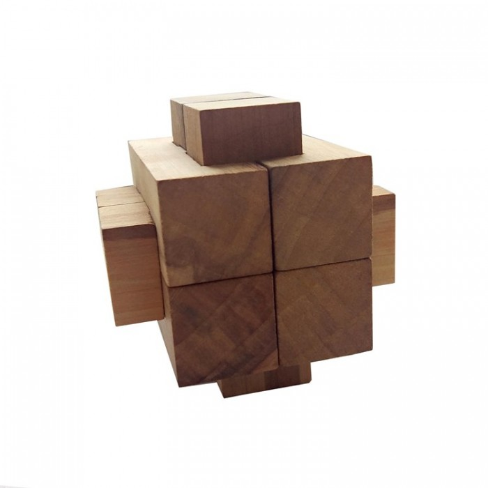 Деревянная головоломка Крест 2+2+4 Круть Верть
