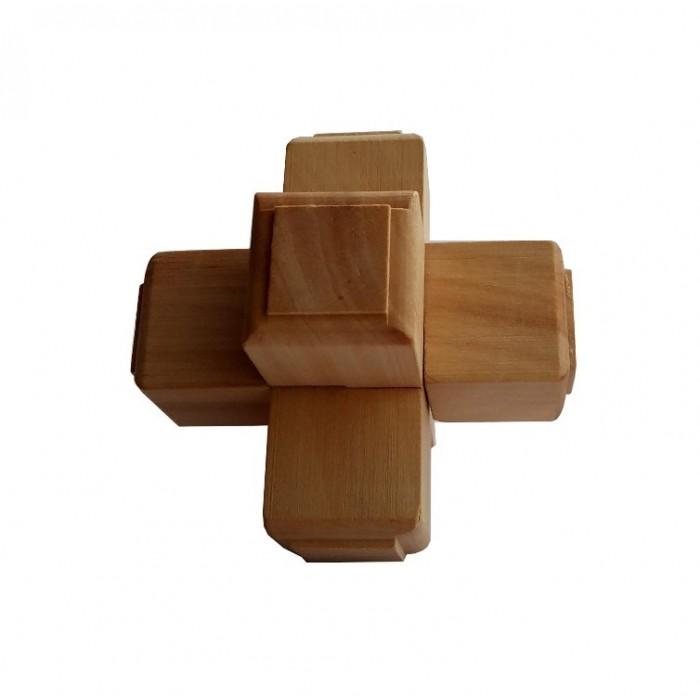 Деревянная головоломка Крест 1+1+1 Круть Верть