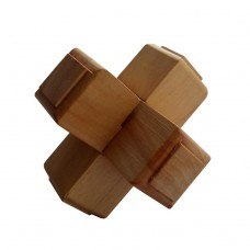 Дерев'яна головоломка Хрест 1+1+1