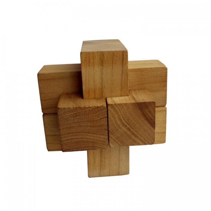 Деревянная головоломка Крест Простой Круть Верть